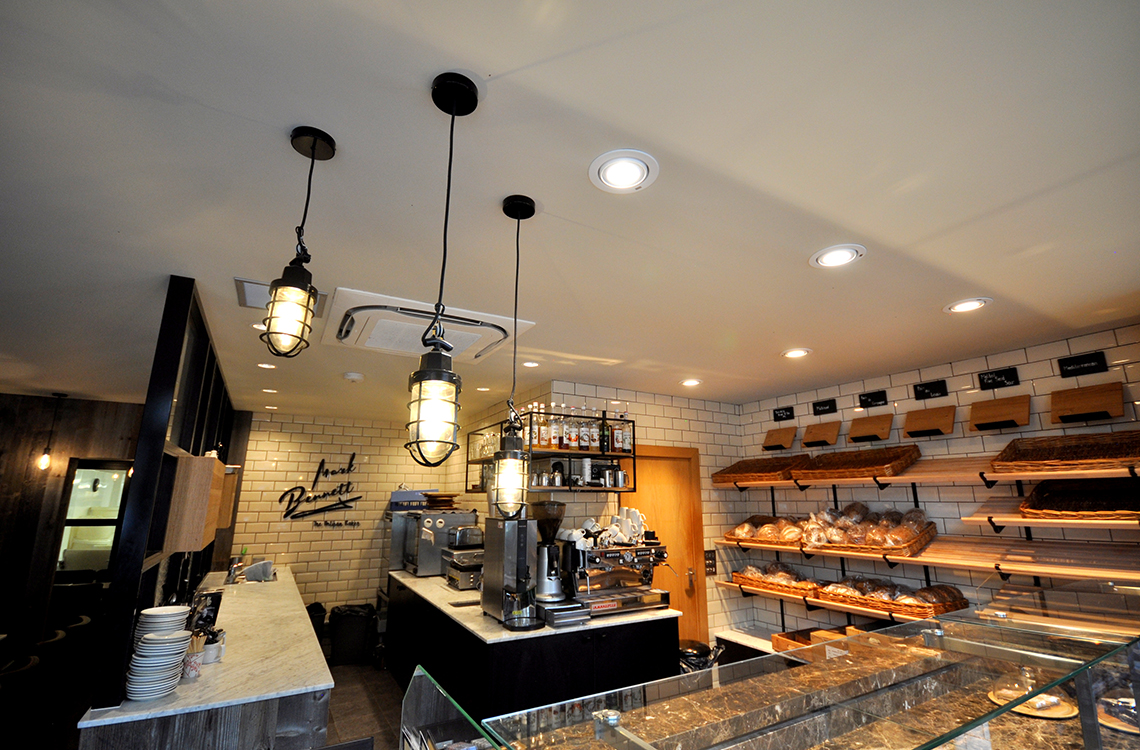 Electrical rewiring and new lighting installation at Mark Bennett's in Poole