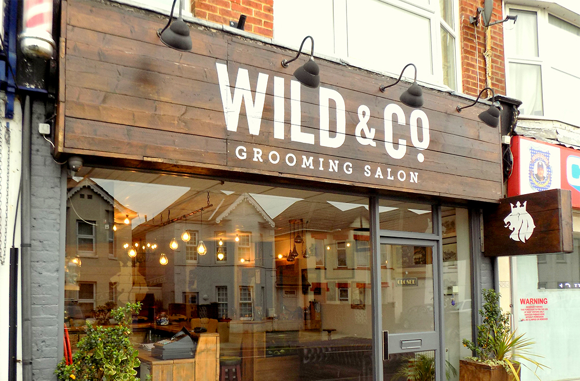 Shop fitting at Wild & Co Barbers in Poole