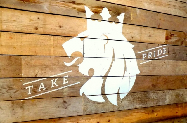 Bespoke carpentry for Wild & Co sign in Poole