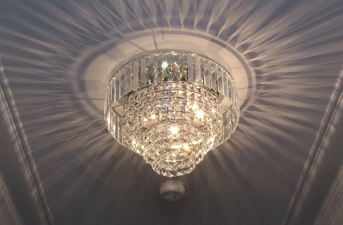 Chandelier lighting installation in Dorset