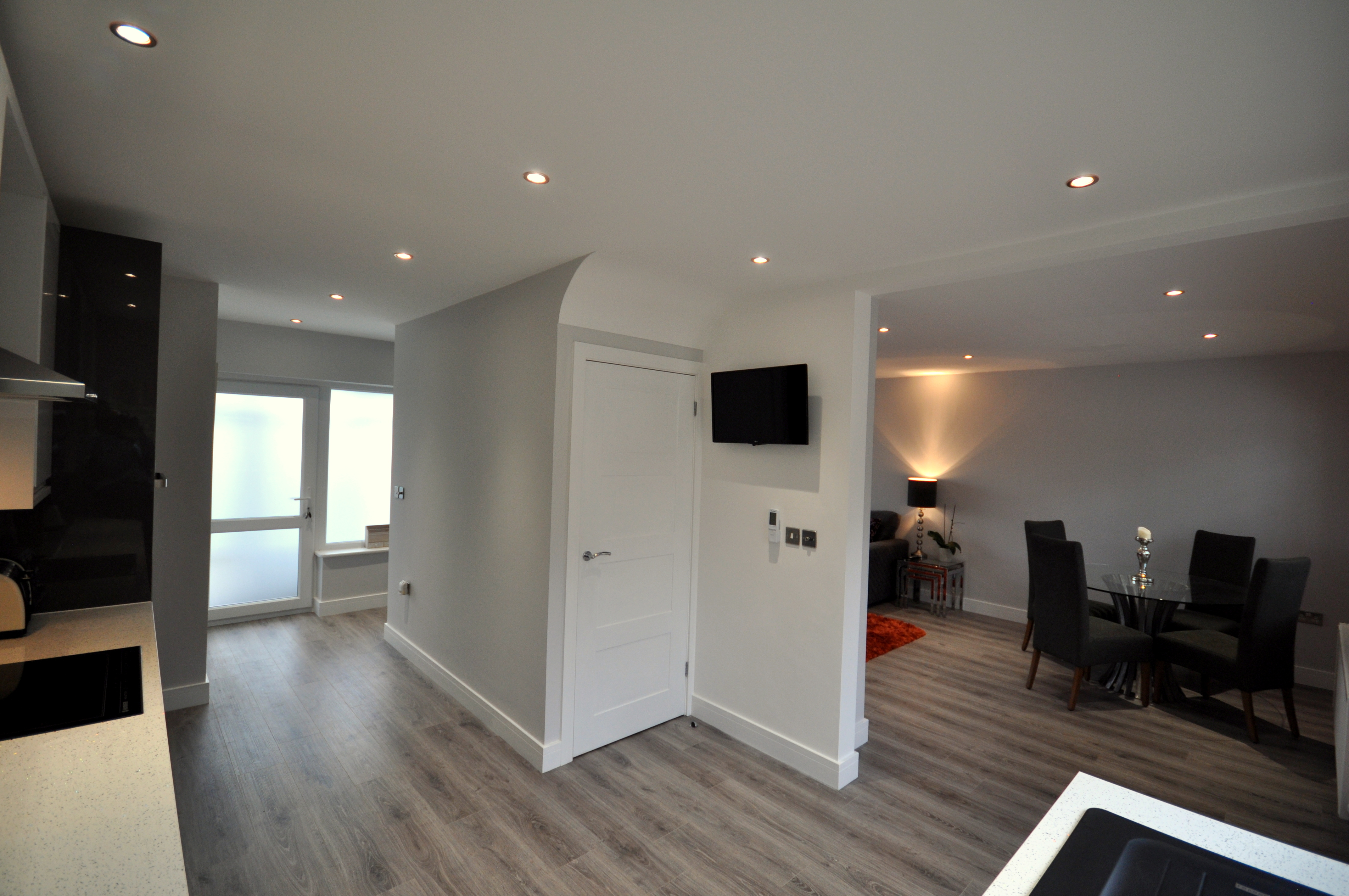 Plastering Walls and Ceiling of Open Plan Living Room in Bournemouth