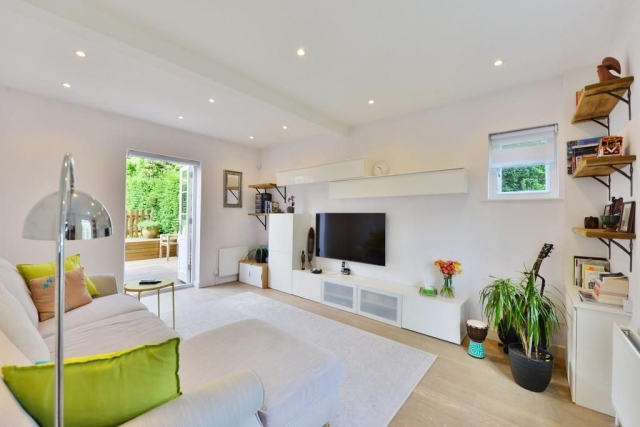 Laminate floor for living room in Poole