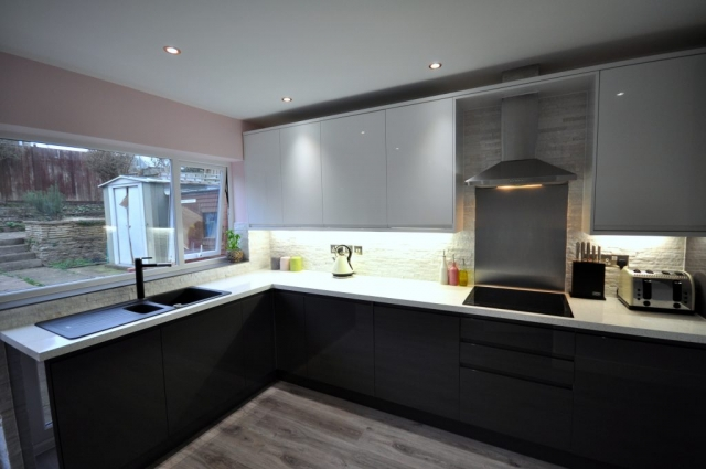 New kitchen lighting and new electrical installations in Poole