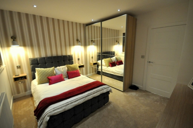 Bedroom refurbishment with new lighting in Poole