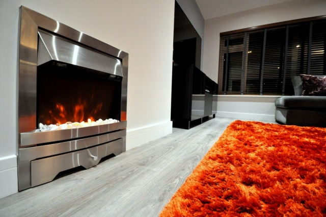 Lounge refurbishment and new electrical installations with new fire in Poole