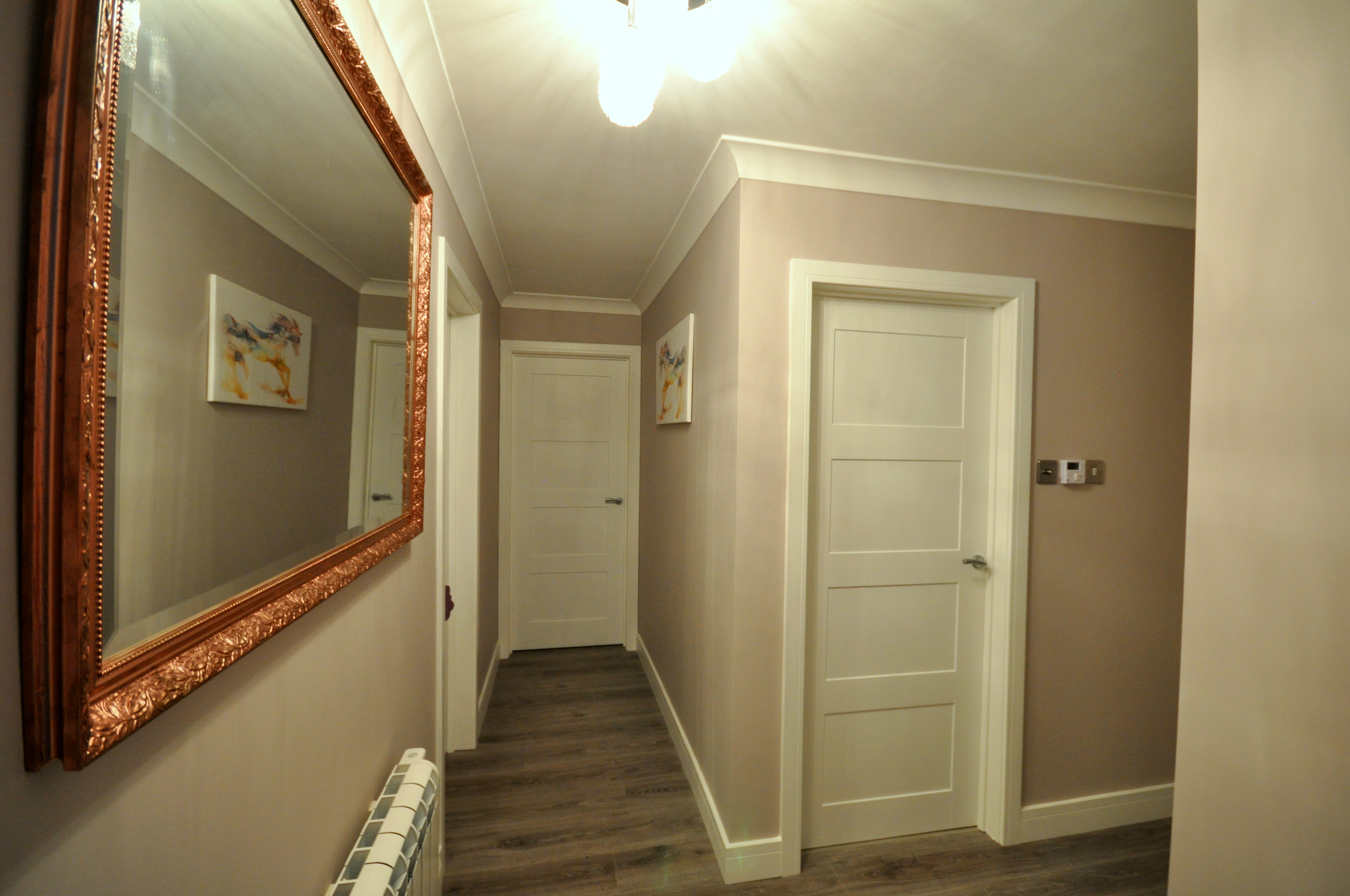 Hall refurbishment with new electrics and new flooring in Dorset