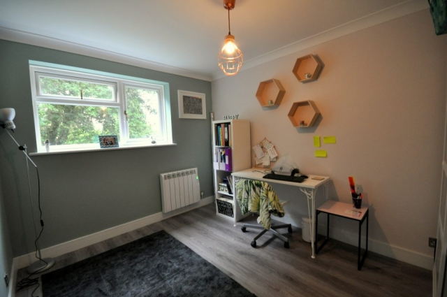 Spare bedroom / study electrical re-wiring and new flooring in Poole