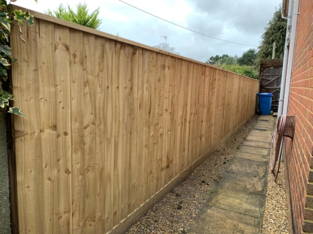 Closed board fencing in Broadstone