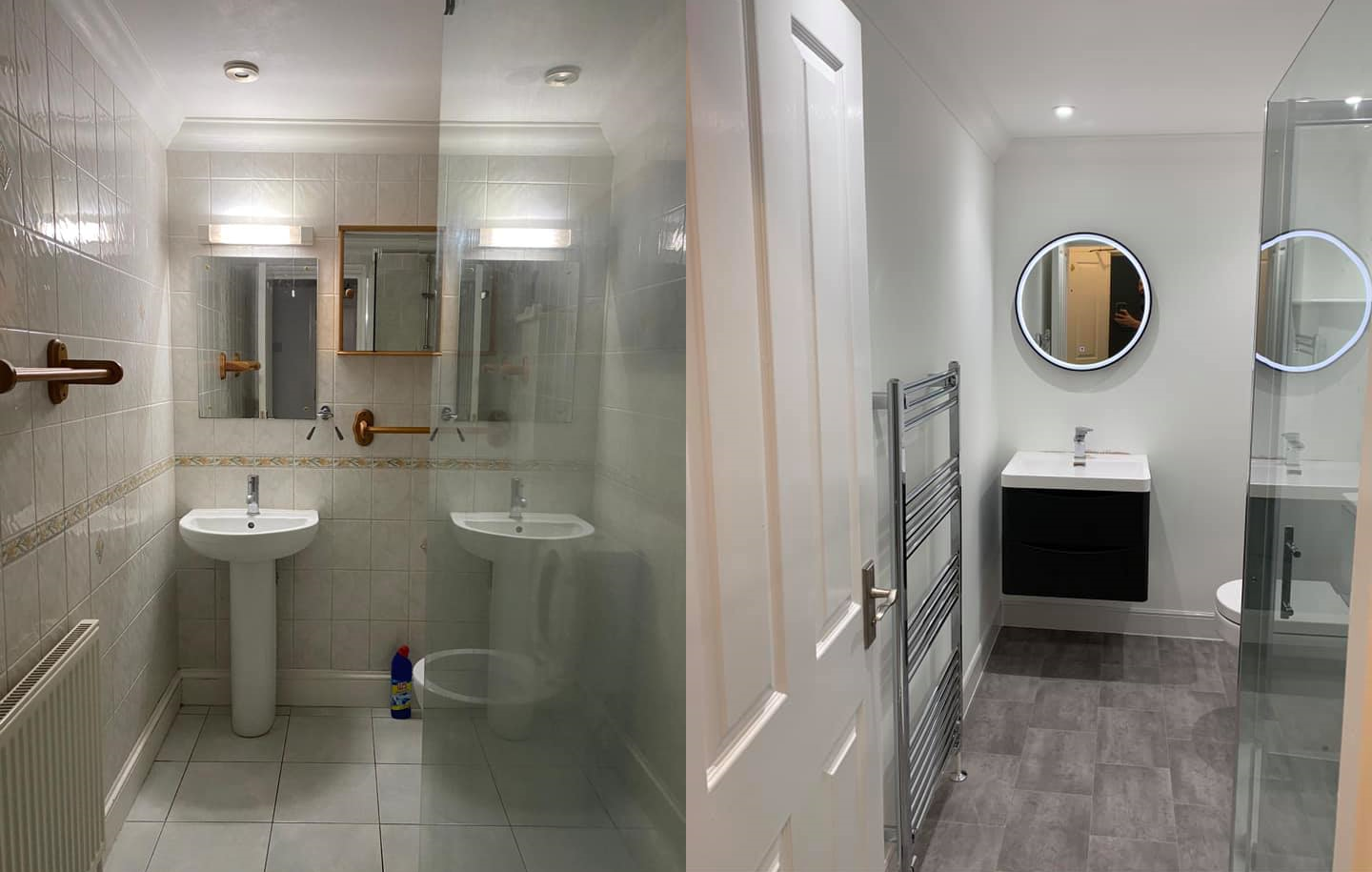 Bathroom Installation Before & After