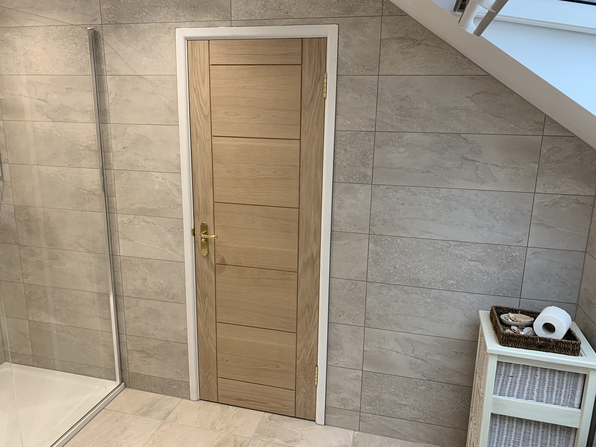 Bespoke Bathroom Door - Carpentry Services Poole