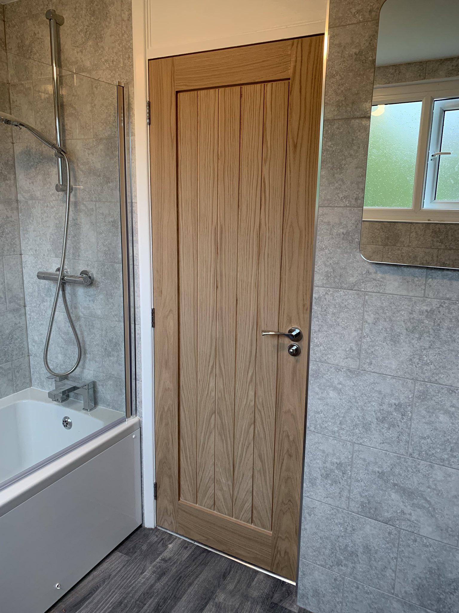 Oak Bathroom Door - Expert Carpenters Bournemouth