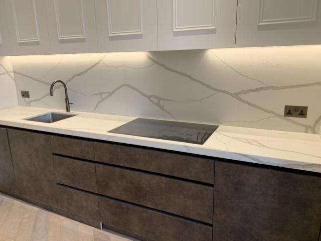 Quartz Worktop - Kitchen Installation